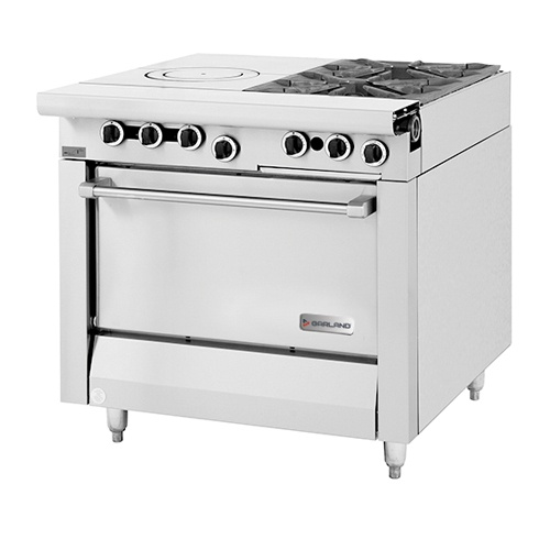 Modular Top w/ Front-Fired Hot Top and Two Open Burners M54T
